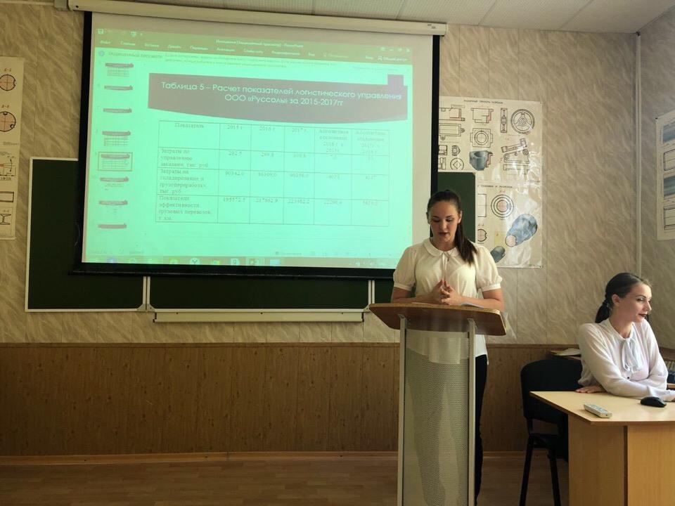 Выпуск студентов по направлению подготовки «Менеджмент: Логистика»