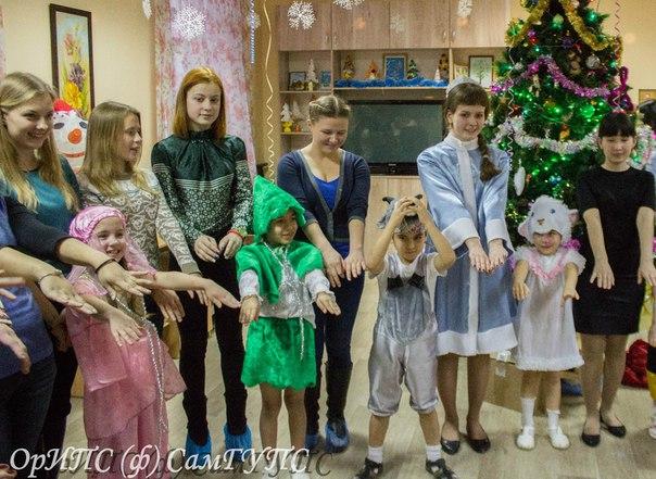 Новый год в социально-реабилитационном центре для несовершеннолетних «Лучик»