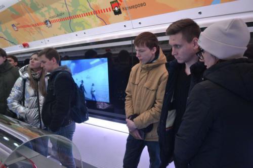Экскурсия на передвижной выставочный комплекс