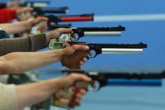 Соревнования по стрельбе из пневматического пистолета