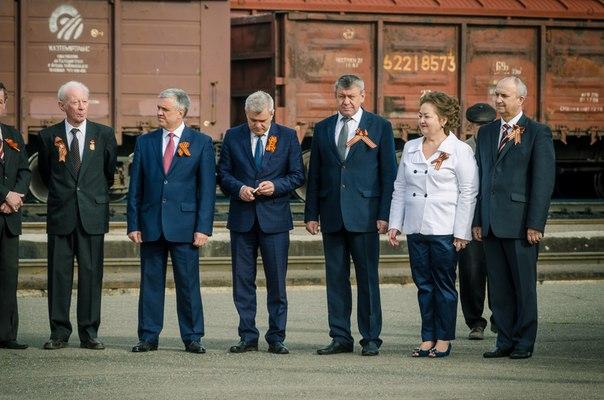 Встреча на привокзальной площади города в честь Дня Победы